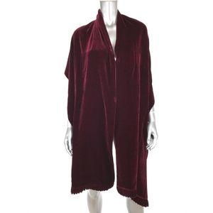 Adrienne Landau Womens Silk Blend Velour Wrap